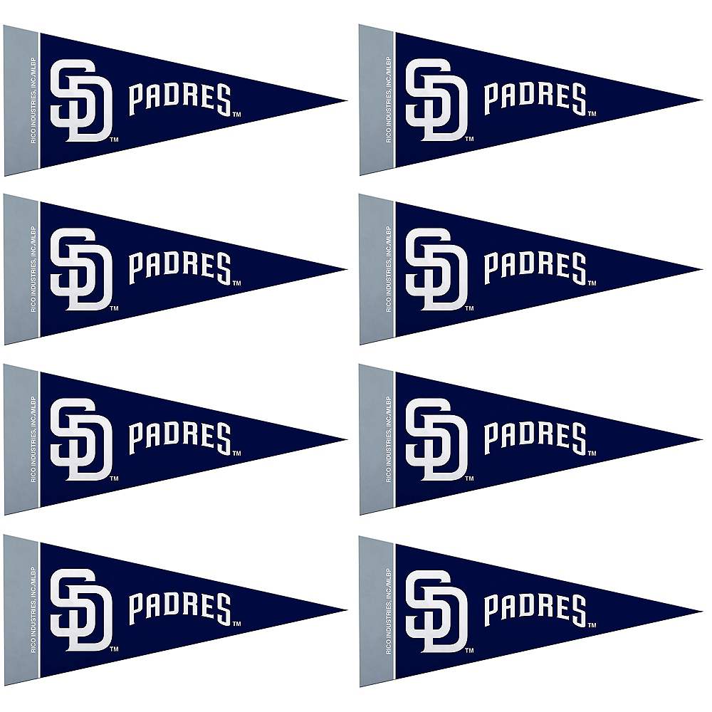Mini San Diego Padres Pennant Flags 8ct Image #1