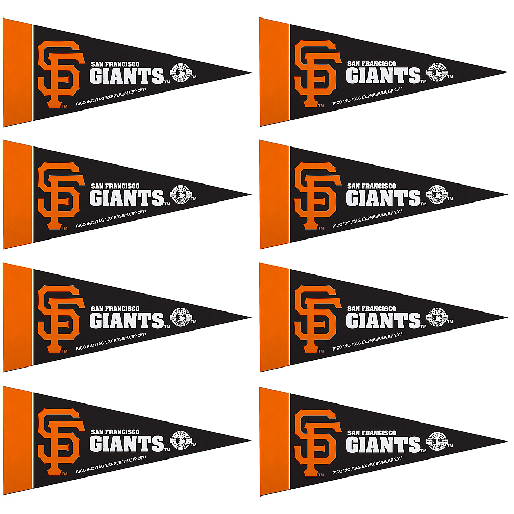 Mini San Francisco Giants Pennant Flags 8ct Image #1