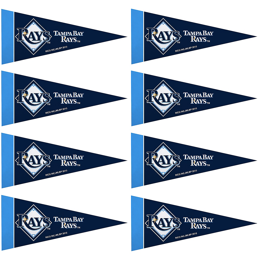 Mini Tampa Bay Rays Pennant Flags 8ct Image #1