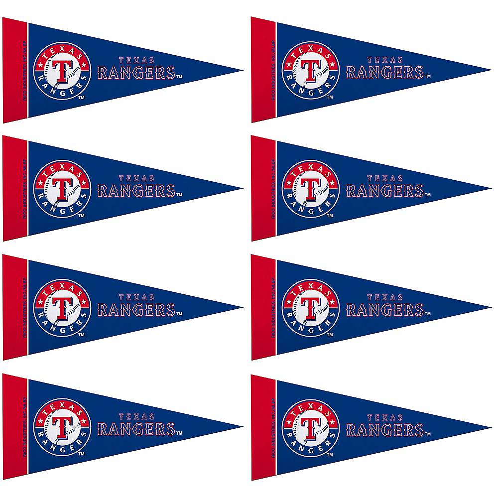 Nav Item for Mini Texas Rangers Pennant Flags 8ct Image #1