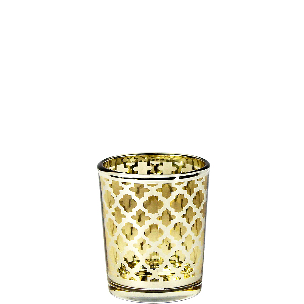 Gold Moroccan Votive Candle Holders 6ct Image #1