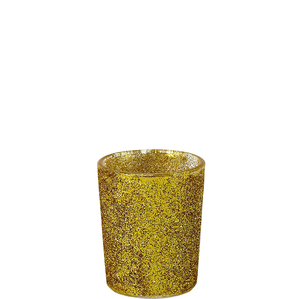 Glitter Gold Votive Candle Holders 6ct Image #1