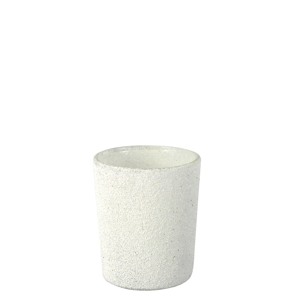 Glitter White Votive Candle Holders 6ct Image #1