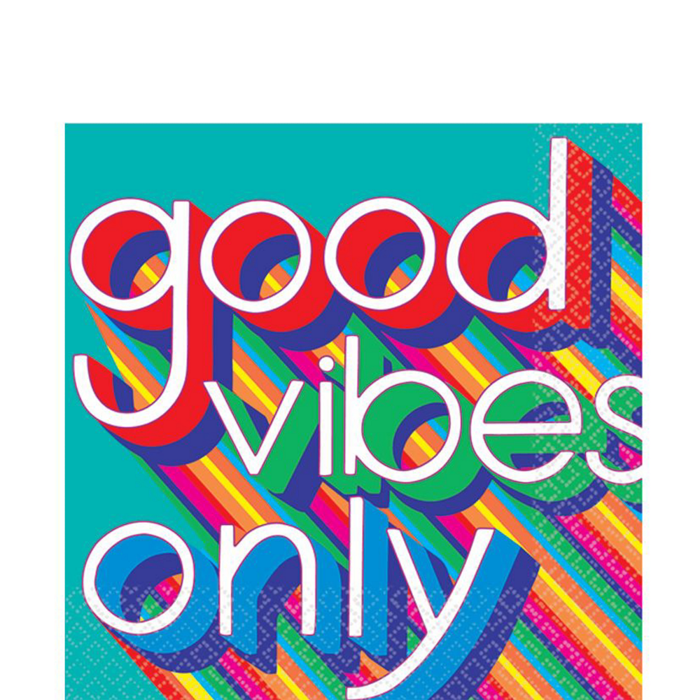 Good Vibes 70s Tableware Kit for 8 Guests Image #5