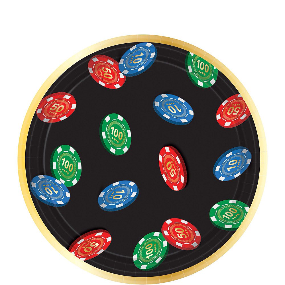Roll the Dice Casino Tableware Kit For 8 Guests Image #2