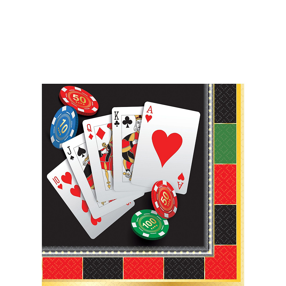 Roll the Dice Casino Tableware Kit For 8 Guests Image #4