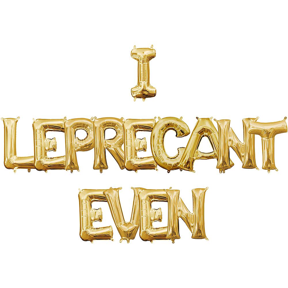 Air-Filled Gold I Leprecant Even Letter Balloon Kit Image #1