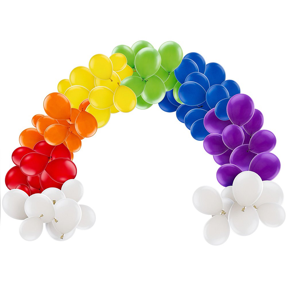 Air-Filled Rainbow Balloon Arch Kit Image #1