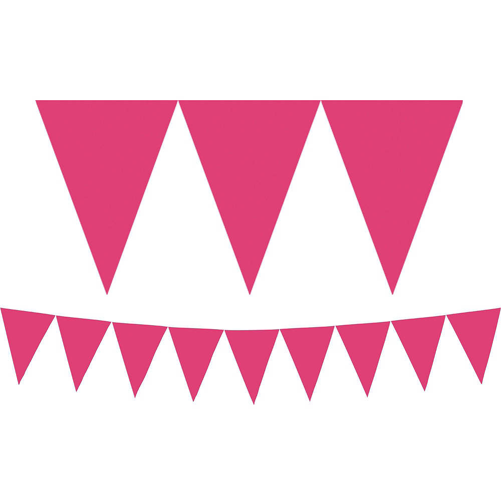 Gold Dream Letter Balloons & Pink Pennant Banner Kit Image #2