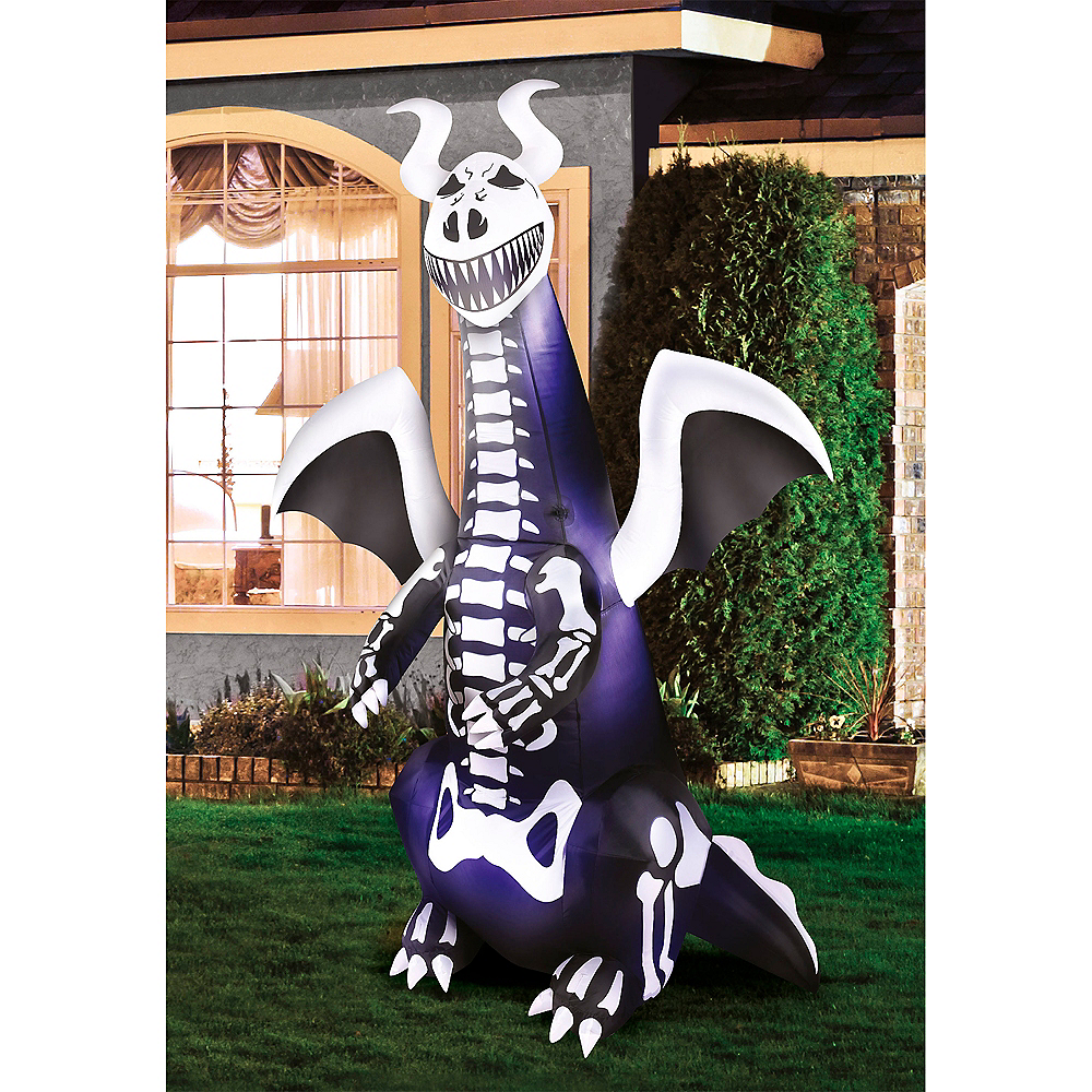 Light-Up Inflatable Skeleton Dragon Image #1