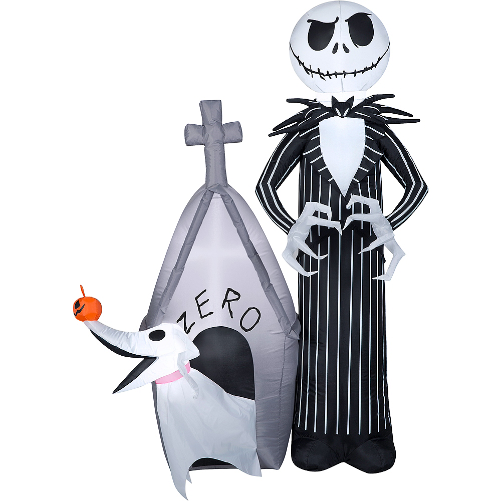 Light Up Jack Skellington Zero Inflatable 45in X 60in The