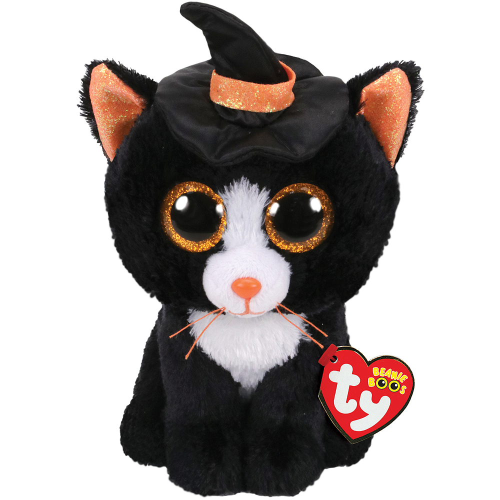 Nav Item for Witchie Beanie Boo Cat Plush Image #1