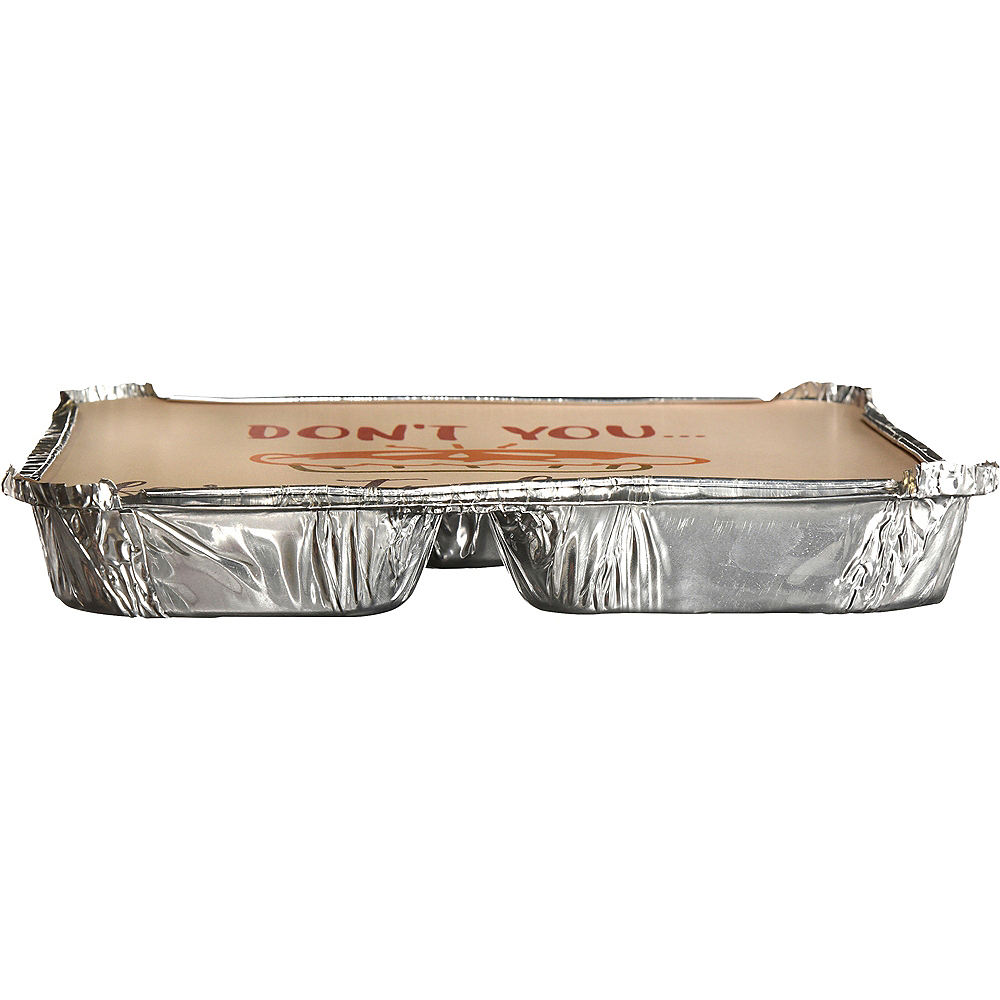 Thanksgiving 3-Section Aluminum To-Go Containers with Board Lids, 7in x 9in, 4ct Image #2