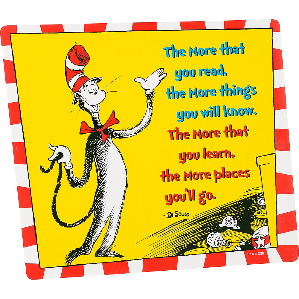 Cat in the Hat Reading Cutouts 12ct - Dr. Seuss Image #1