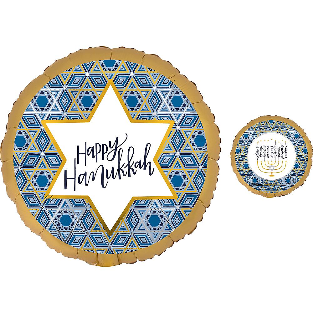 Festival of Lights Hanukkah Balloon, 17in Image #1