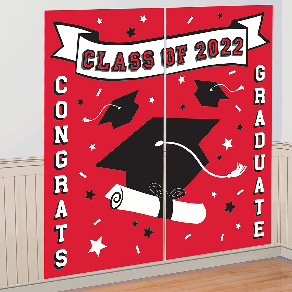 Ultimate Red Congrats Grad Graduation Party Kit for 100 Guests Image #9