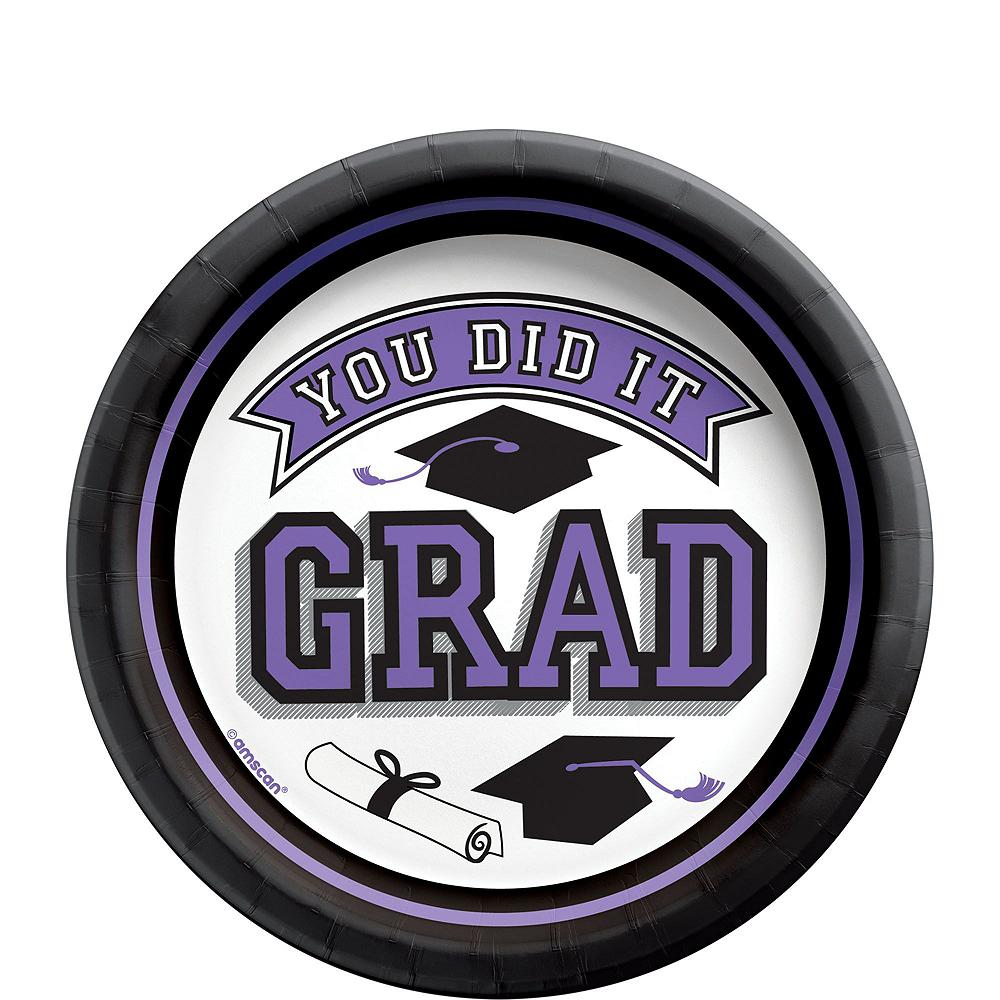 Ultimate Purple Congrats Grad Graduation Party Kit for 100 Guests Image #3