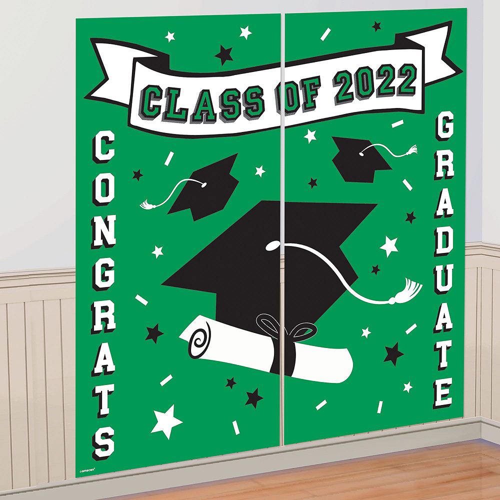 Ultimate Green Congrats Grad Graduation Party Kit for 100 Guests Image #9