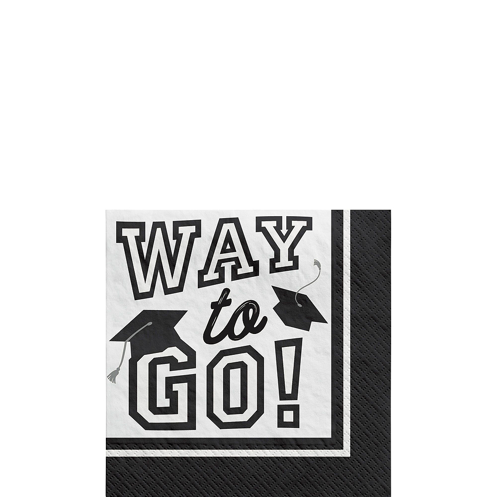 Ultimate White Congrats Grad Graduation Party Kit for 100 Guests Image #5