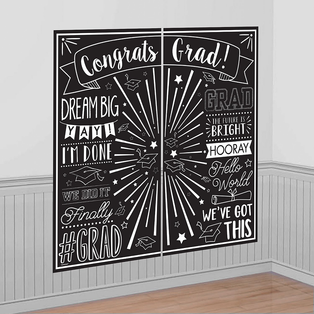 Ultimate White Congrats Grad Graduation Party Kit for 100 Guests Image #8