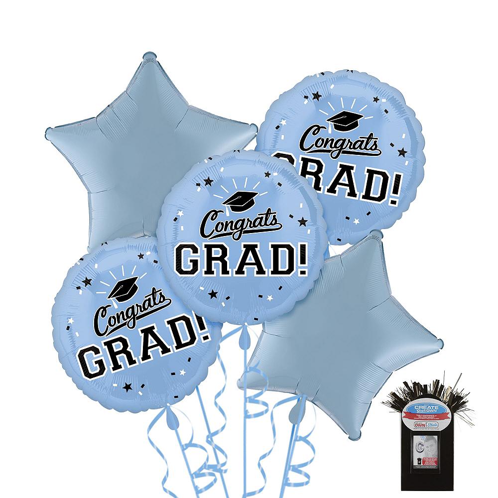 Powder Blue Congrats Grad Graduation Star Balloon Kit Image #1