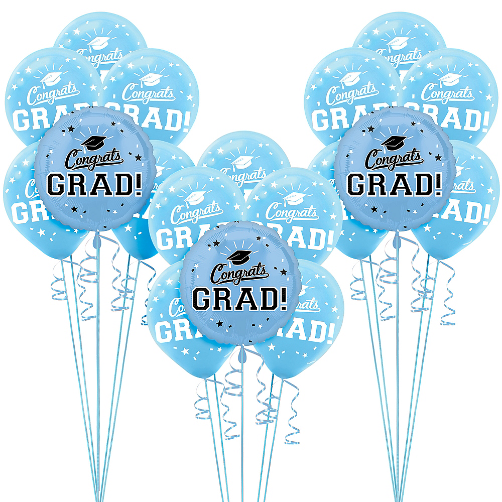Powder Blue Congrats Grad Graduation Balloon Kit Image #1
