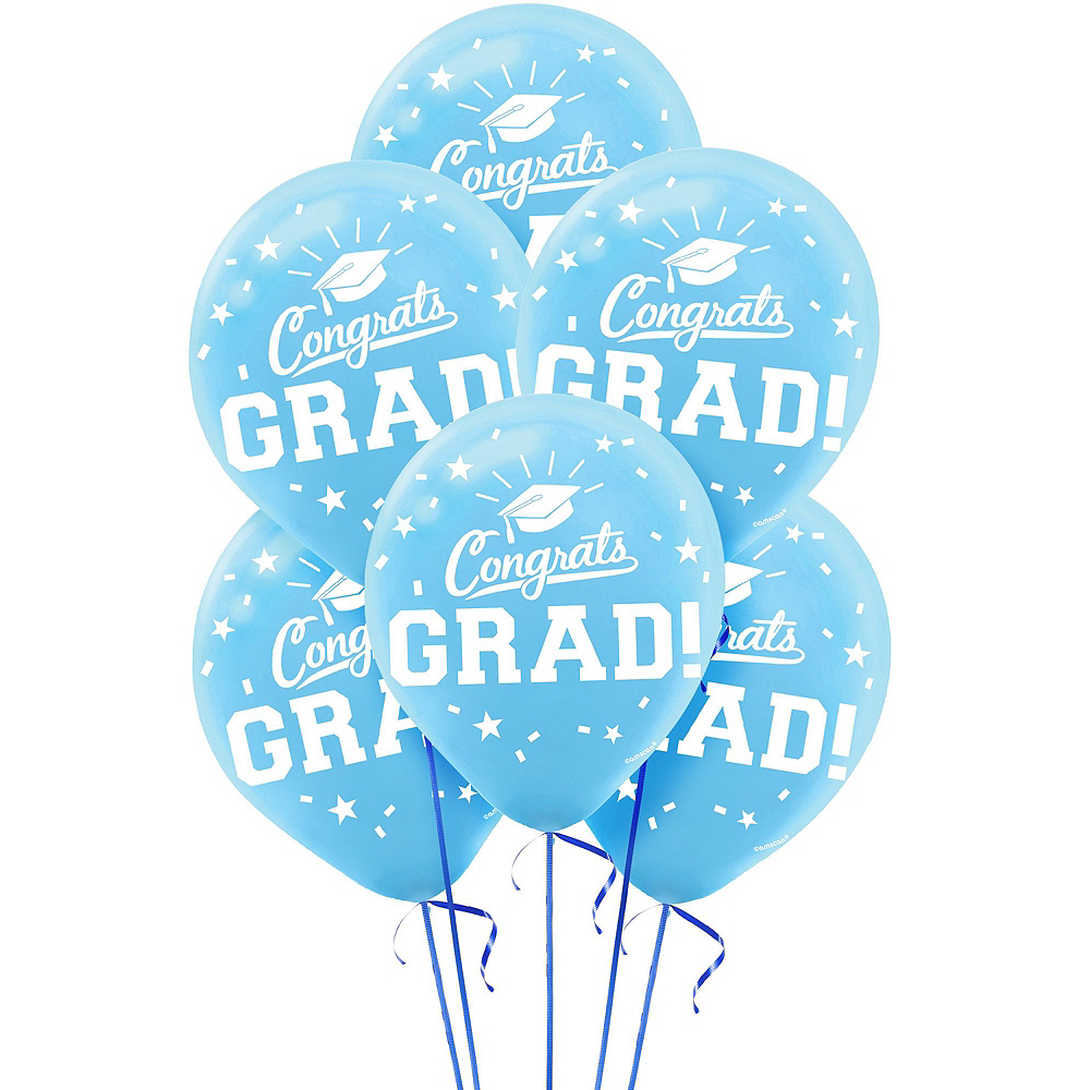 Powder Blue Congrats Grad Graduation Balloon Kit Image #2