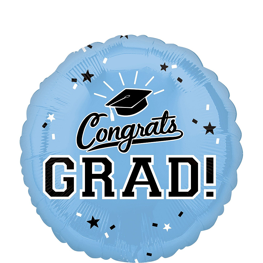 Powder Blue Congrats Grad Graduation Balloon Kit Image #3