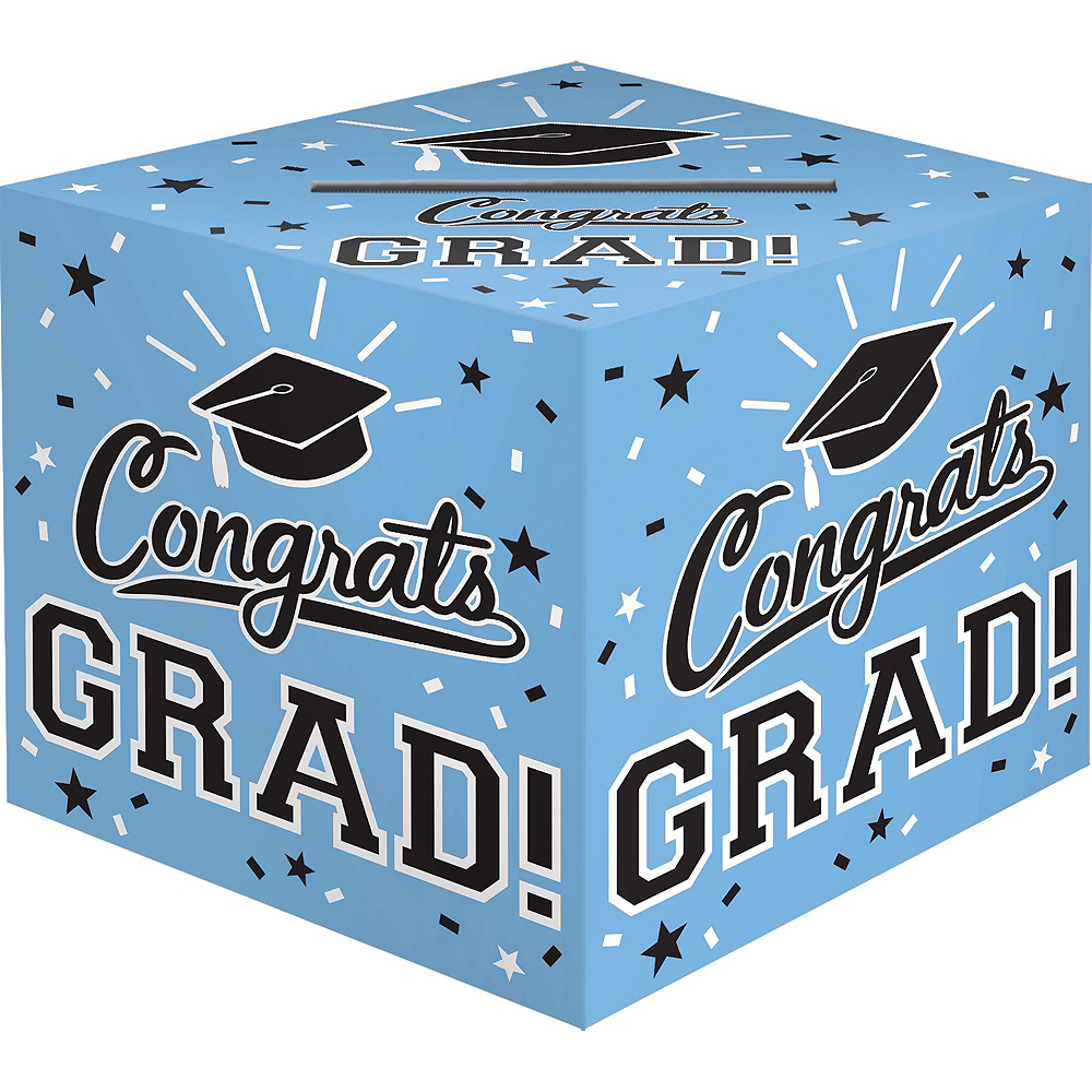 Powder Blue Congrats Grad Graduation Banner Kit Image #2