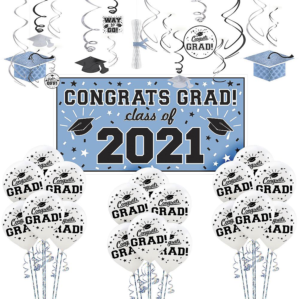 Powder Blue Congrats Grad Graduation Decorating Kit