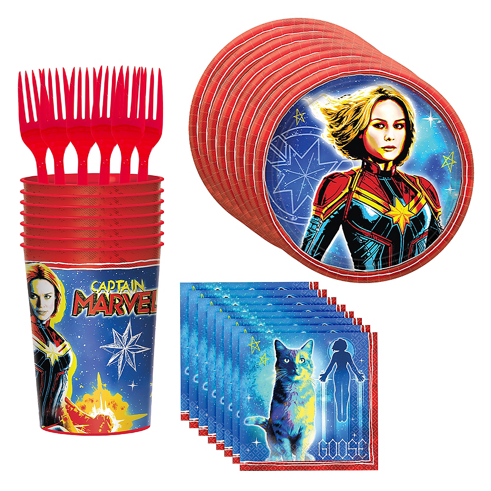Captain Marvel Tableware Kit for 8 Guests Image #1