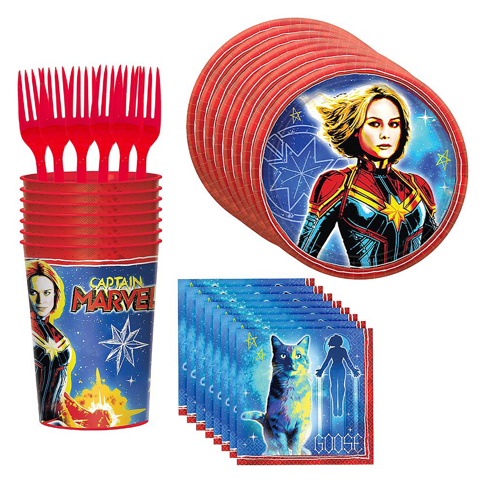 Captain Marvel Standard Tableware Kit for 8 Guests Image #1