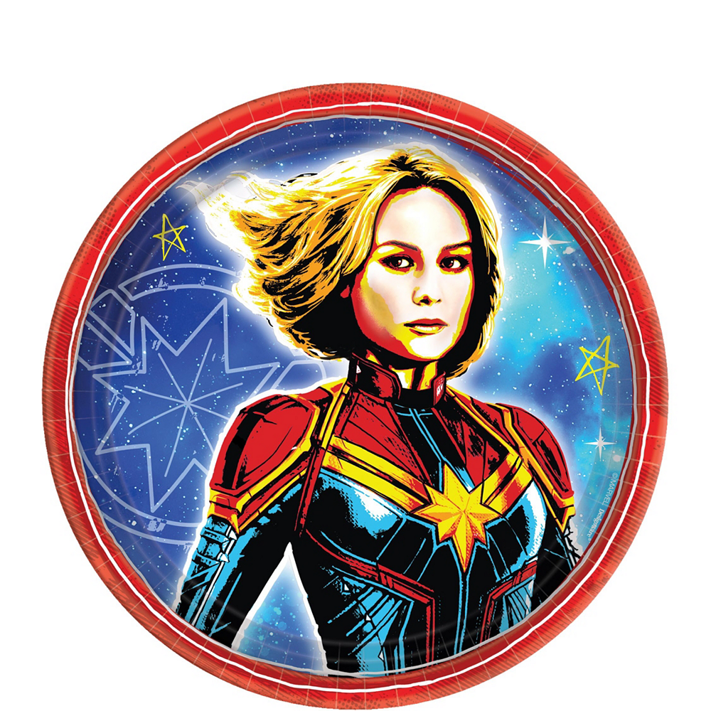 Captain Marvel Standard Tableware Kit for 8 Guests Image #2