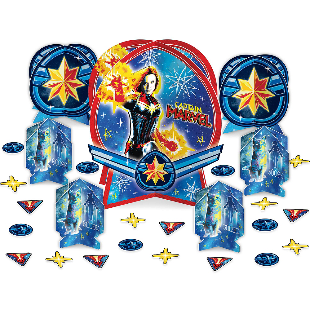 Captain Marvel Tableware Kit for 16 Guests Image #7