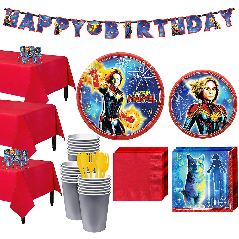 Captain Marvel Tableware Kit for 24 Guests Image #1