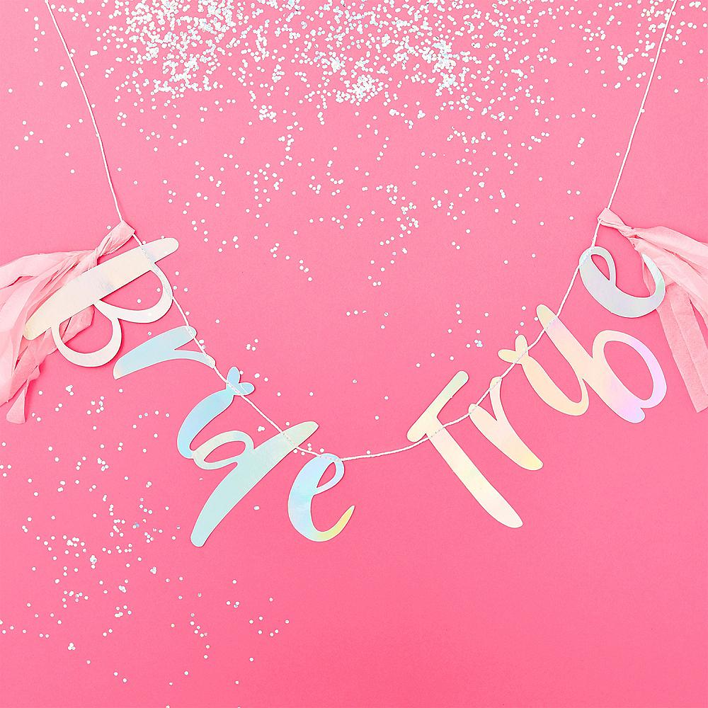 Ginger Ray Iridescent Bride Tribe Letter Banner Image #1