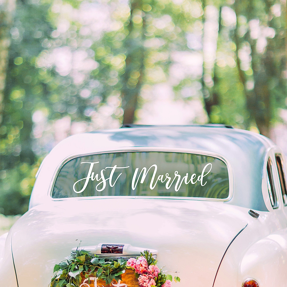 Ginger Ray Just Married Decal Image #1