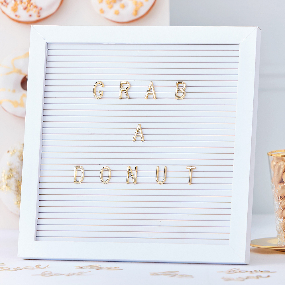 Ginger Ray Metallic Gold & White Letter Board 162pc Image #1