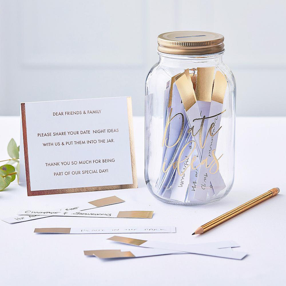 Ginger Ray Metallic Gold Date Ideas Jar Image #1