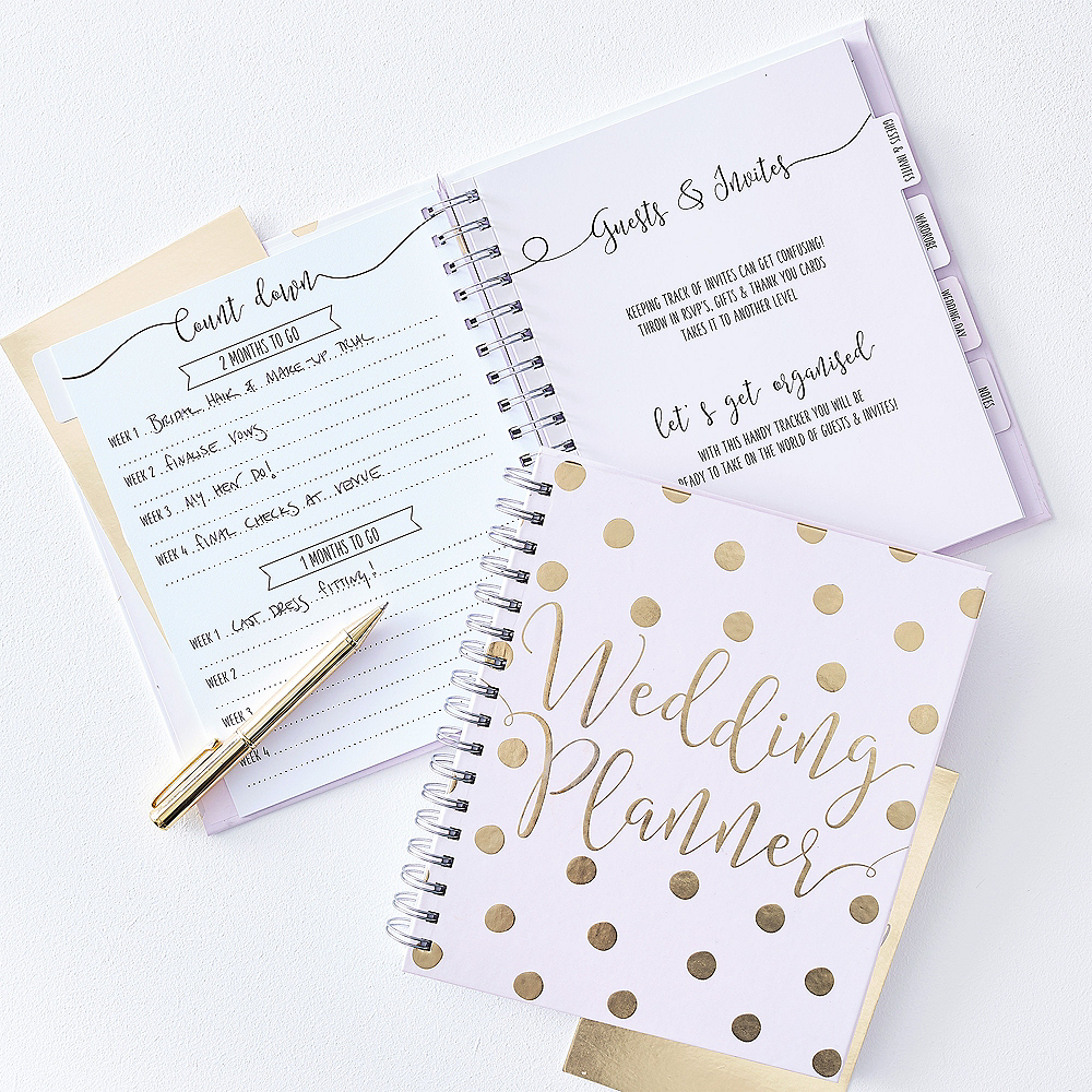 Ginger Ray Metallic Gold Wedding Planner Image #1