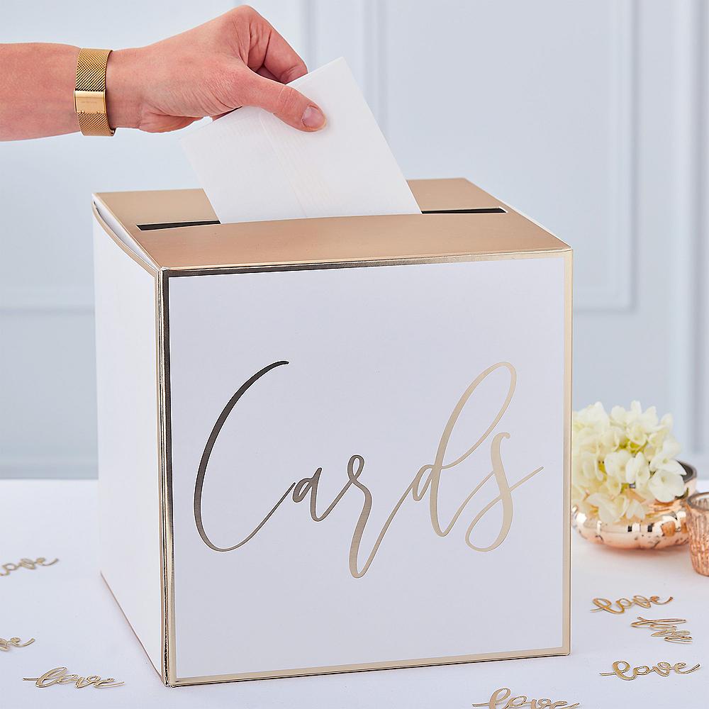 Ginger Ray Metallic Gold Card Holder Box Image #1