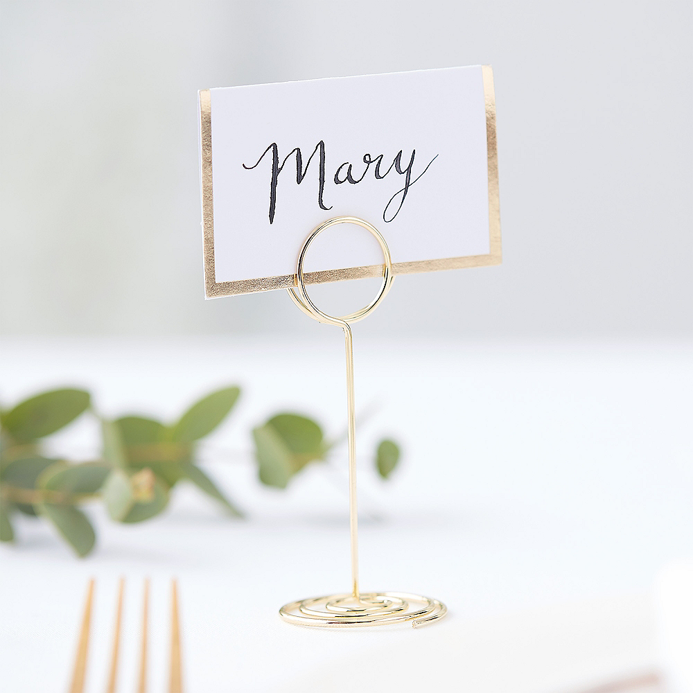 Ginger Ray Metallic Gold Mini Place Card Holder Image #1
