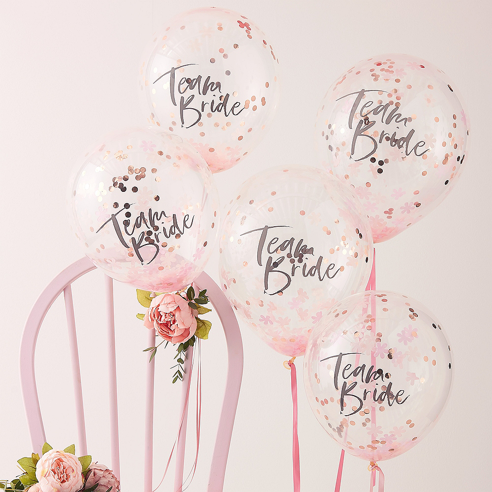 Team Bride Ginger Ray Hen Party Team Bride Rose Gold Paper Glasses x 8