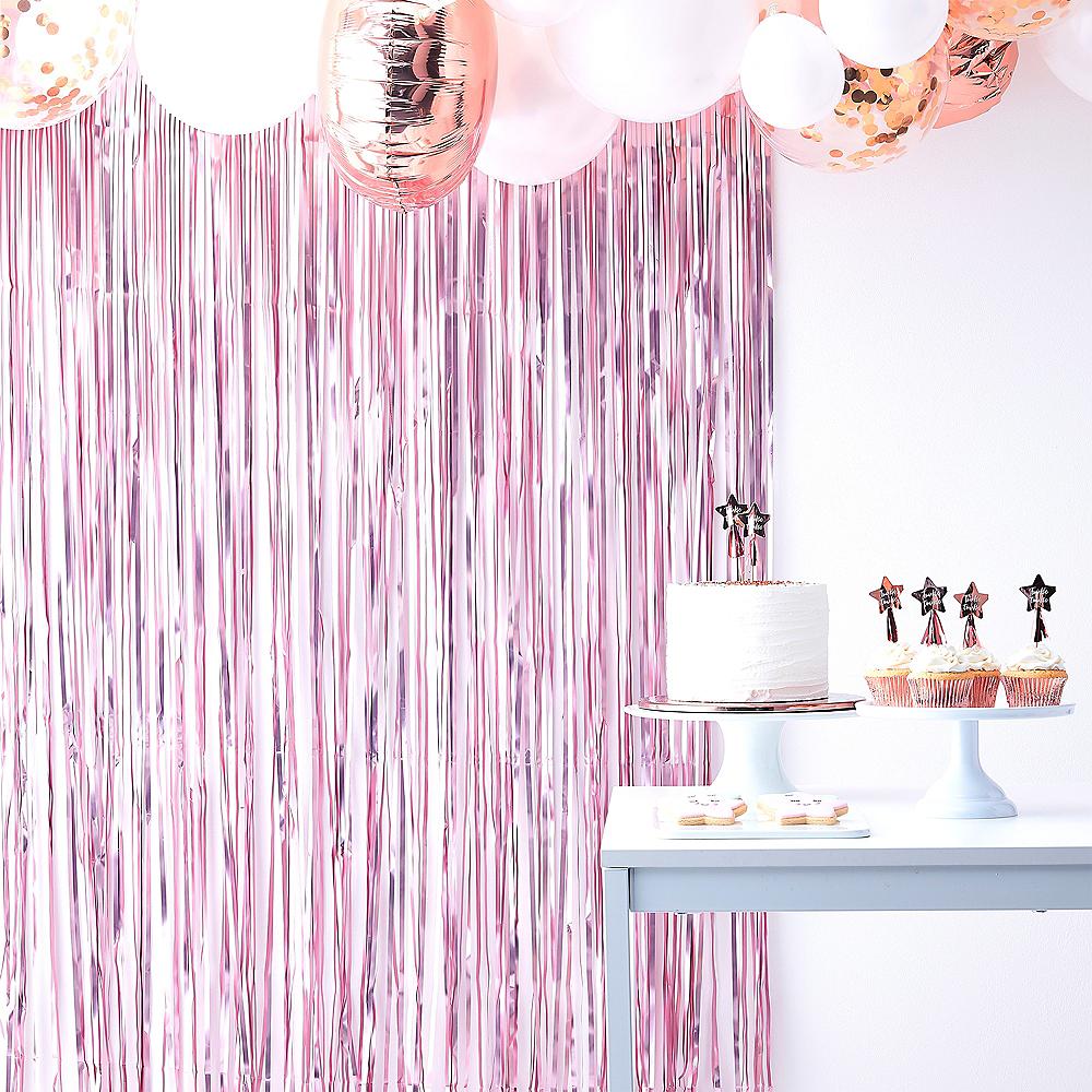 Ginger Ray Pink & White Fringe Backdrop Image #1