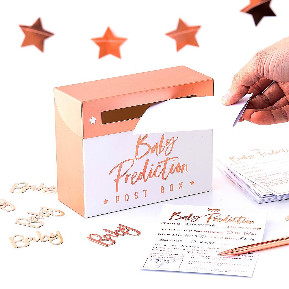 Ginger Ray Rose Gold Baby Prediction Box Image #1