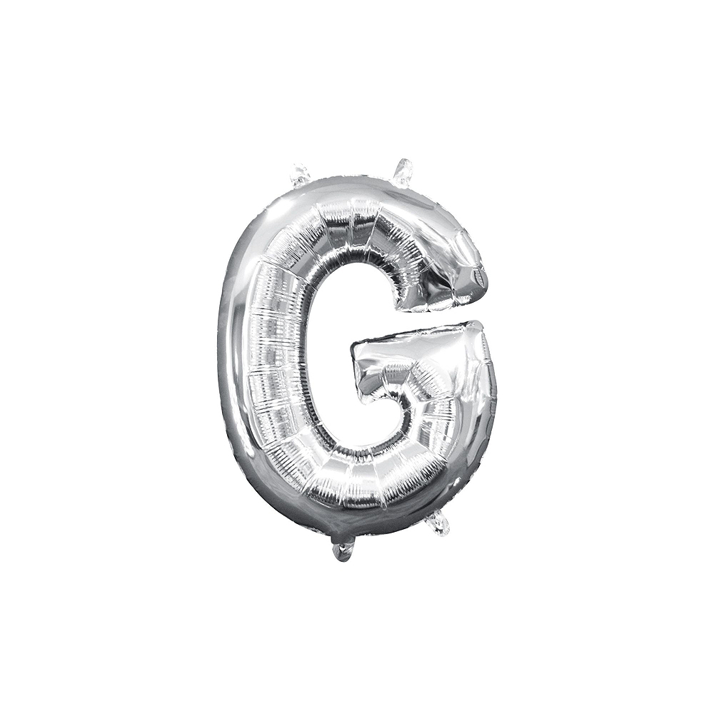 Air-Filled Silver Congrats Letter Balloon Kit Image #4