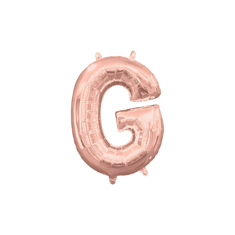 Nav Item for Air-Filled Rose Gold Congrats Letter Balloon Kit Image #4