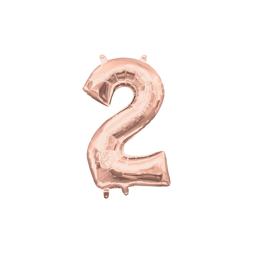 Air-Filled Rose Gold Class of 2019 Letter Balloon Kit Image #9