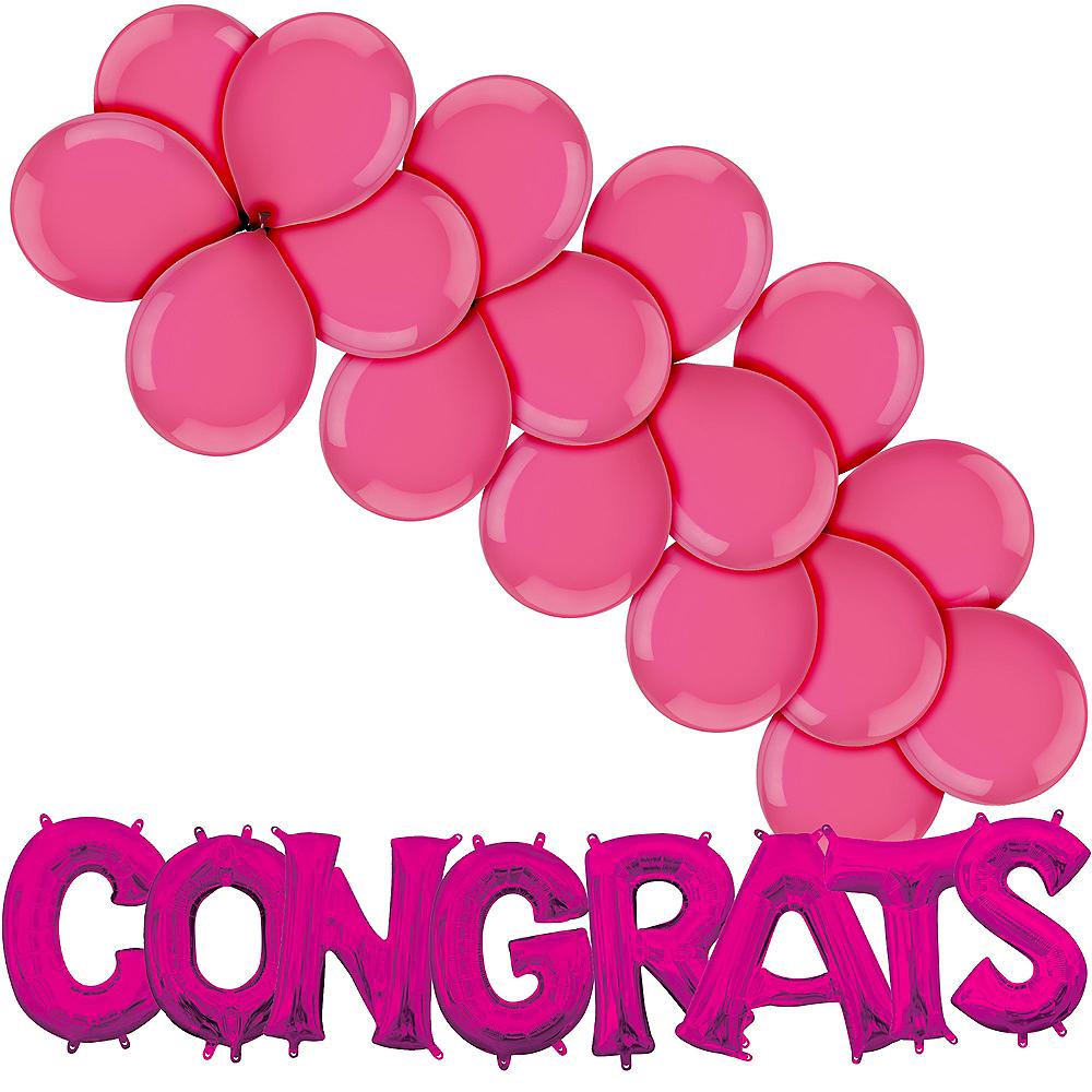Pink Congrats Balloon Kit Image #1