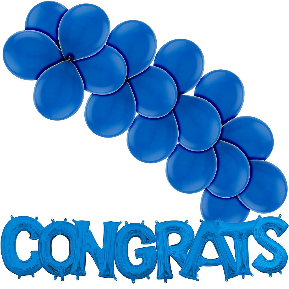 Blue Congrats Balloon Kit Image #1